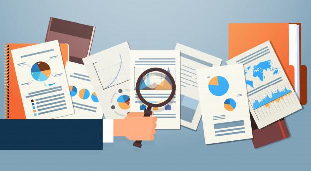 Documentos del diagrama financiero |  vector premium