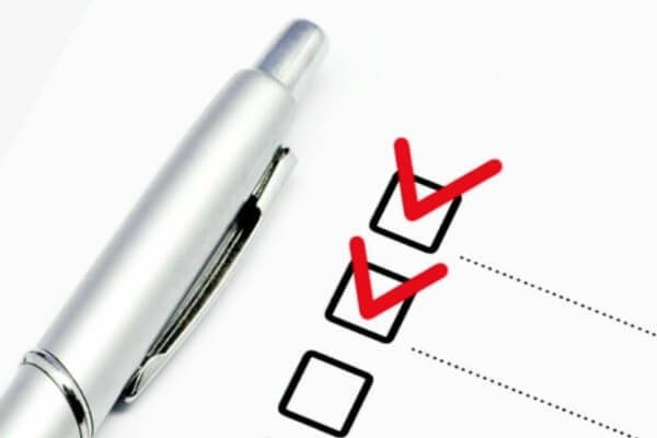 Lista de comprobación del certificado de residencia