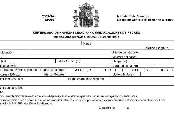 Certificado de navegabilidad gubernamental