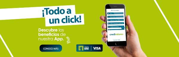 Banner de aplicación credivalors