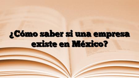 ¿Cómo saber si una empresa existe en México?