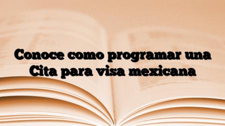 Conoce como programar una Cita para visa mexicana