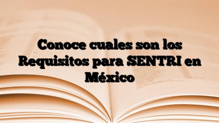 Conoce cuales son los Requisitos para SENTRI en México