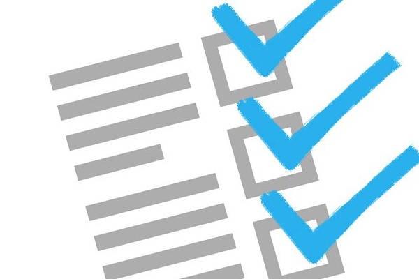 Requisitos para ser una lista de comprobación de seguridad