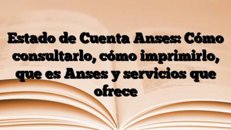 Estado de Cuenta Anses: Cómo consultarlo, cómo imprimirlo, que es Anses y servicios que ofrece