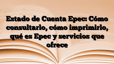 Estado de Cuenta Epec: Cómo consultarlo, cómo imprimirlo, qué es Epec y servicios que ofrece