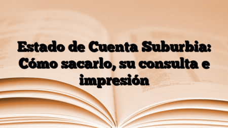 Estado de Cuenta Suburbia: Cómo sacarlo, su consulta e impresión