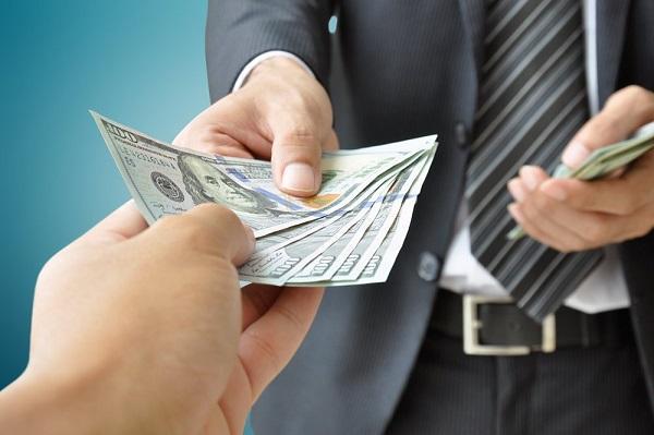 entrega de dinero