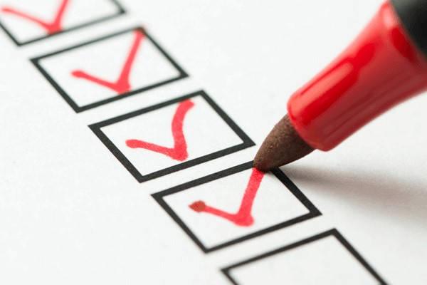 Lista de verificación de certificados de empresa