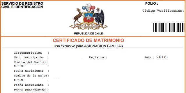 certificado de boda