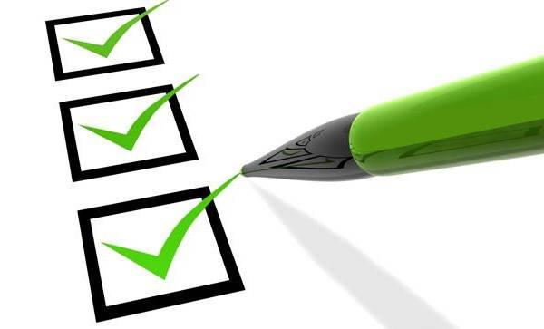 Lista de verificación del certificado de inscripción