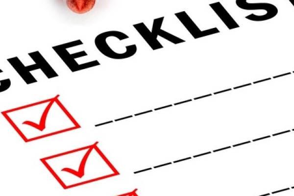 Lista de comprobación de los requisitos de la donación de sangre