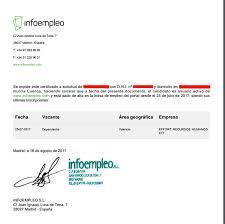 Certificado de solicitante de empleo 1