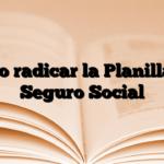 Cómo radicar la Planilla del Seguro Social