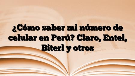 ¿Cómo saber mi número de celular en Perú? Claro, Entel, Biterl y otros