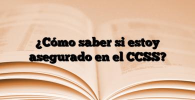 ¿Cómo saber si estoy asegurado en el CCSS?