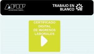 certificado digital de ingresos del trabajo