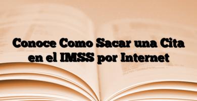 Conoce Como Sacar una Cita en el IMSS por Internet