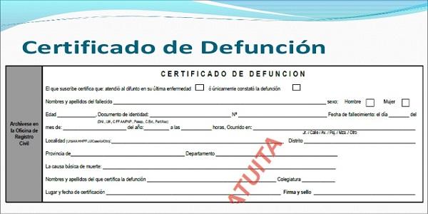 Certificado de función