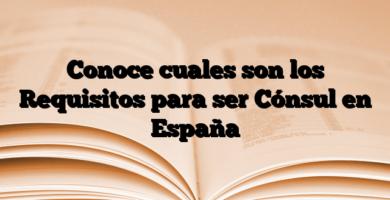 Conoce cuales son los Requisitos para ser Cónsul en España