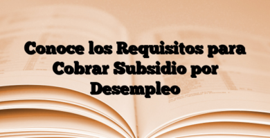 Conoce los Requisitos para Cobrar Subsidio por Desempleo