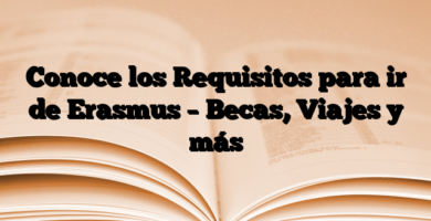 Conoce los Requisitos para ir de Erasmus – Becas, Viajes y más
