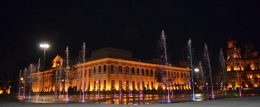 managua, nicaragua, turismo, fuente, luminoso, avenida, puerto ...