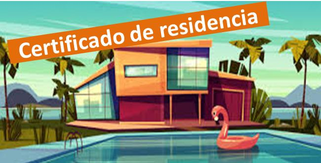 Certificado de residencia