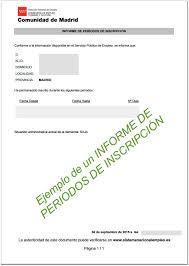 Certificado de solicitante de empleo