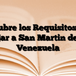 Descubre los Requisitos para viajar a San Martin desde Venezuela