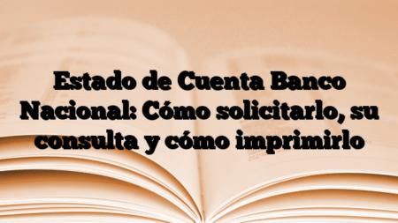 Estado de Cuenta Banco Nacional: Cómo solicitarlo, su consulta y cómo imprimirlo