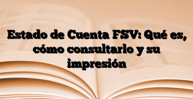 Estado de Cuenta FSV: Qué es, cómo consultarlo y su impresión