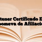 Obtener Certificado EPS Coomeva de Afiliación