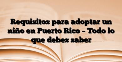 Requisitos para adoptar un niño en Puerto Rico – Todo lo que debes saber