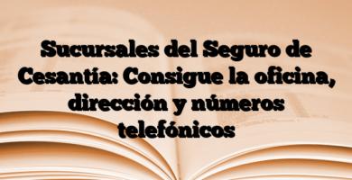 Sucursales del Seguro de Cesantía: Consigue la oficina, dirección y números telefónicos